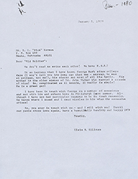 Letter from Elsie to R.L. 'Dick' Herman, 1979.