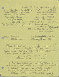 Elsie H. Hillman's speech notes during Tom Ridge's campaign for Pennsylvania Governor, 1994.